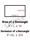 Area Poster Pack - 4 Anchor Charts (Rectangle, Triangle, C