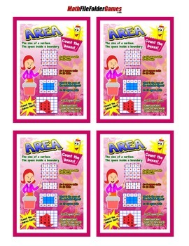 Area Poster/Anchor Chart with Cards for Students Math Journals