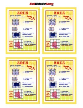 Area = Poster/Anchor Chart with Cards for Students