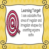 3rd Grade Area PowerPoint Measuring Area Counting Square Units 3.MD.5 & 3.MD.6