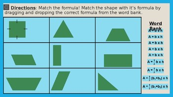 Area Practice- Area of Square, Rectangle, Parallelogram, Triangle, & Trapezoid