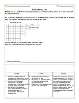 Area Problem Solving Task