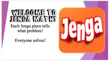 Area Problem Solving using Jenga game