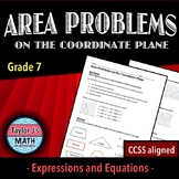 Area Problems on the Coordinate Plane Worksheet