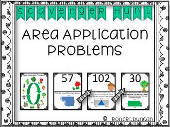 Area - Application Problems - Scavenger Hunt