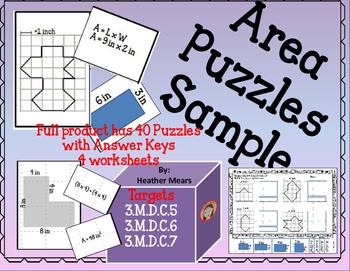 Area Puzzles Freebie
