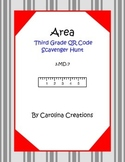 Area QR Code Scavenger Hunt - Third Grade Math 3.MD.7