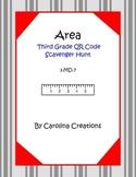 Area QR Code Scavenger Hunt - Third Grade Math 3.MD.7