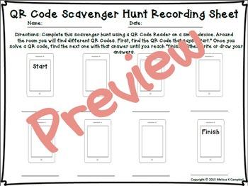 Area QR Code Scavenger Hunt