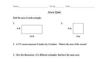 Area Quiz