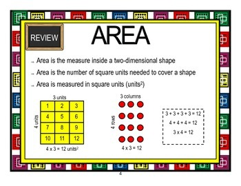 Area:  Relating Area to Multiplication and Addition