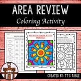 Area Review Coloring Activity