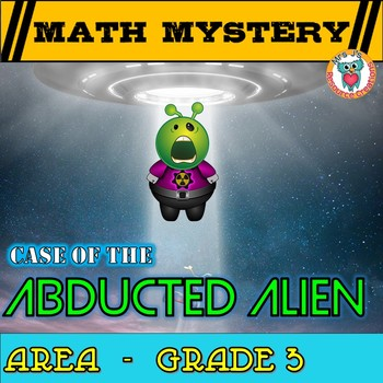 3rd Grade Area Review Math Mystery: Area of rectangles & squares