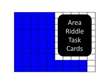 Area and Perimeter Riddles Task Cards