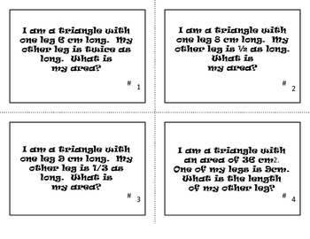 TEST REVIEW: Area and Perimeter Riddles Task Cards
