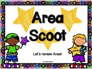 Area Scoot- Reviewing Area Task Cards