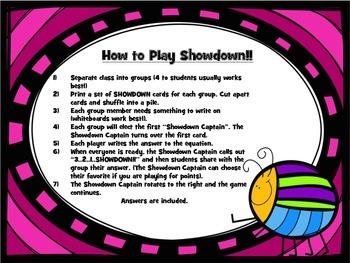Area Showdown Game