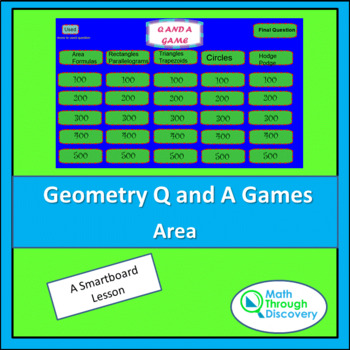 Geometry Smartboard Q and A Game - Area