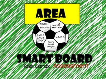 Area: Soccer Field Area SMARTBoard Lesson with Printables