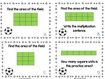 Area: Soccer Field Area Task Cards