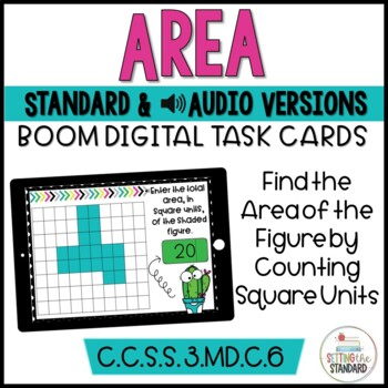 Area | Square Units Boom Cards