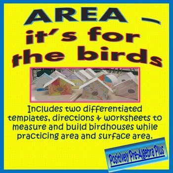 Area & Surface Area Birdhouse Project