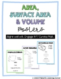 Area, Surface Area & Volume Posters (Geometry Word Wall)