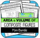 Area, Surface Area, & Volume of Composite Figures MINI-BUNDLE