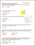 Area, Surface Area, and Volume (WS)