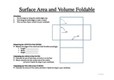 Area, Surface Area and Volume Foldable