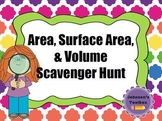 Area, Surface Area, and Volume Geometry Scavenger Hunt