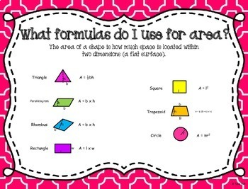 Finding Area, Surface Area, and Volume Task Cards and Poster Set ~CCSS 7.G.6