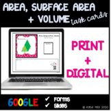 Finding Area, Surface Area, and Volume Task Cards and Post