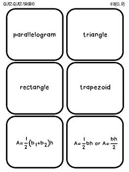 Area (TEKS 6.8C,D) Quiz-Quiz-Trade