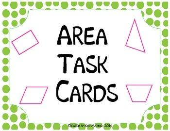 Finding Area Task Cards Quadrangles & Triangles