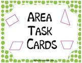 Finding Area Task Cards Quadrangles & Triangles
