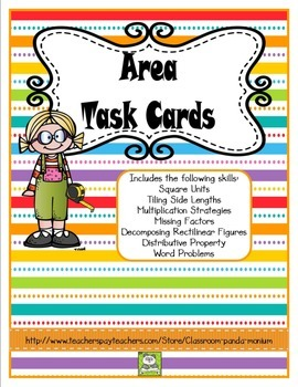 Area Task Cards (CC Aligned)