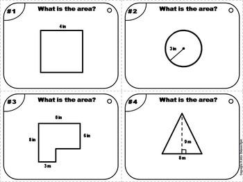 Measuring Area Task Cards/ Finding Area Task Cards/ Measuring Length Task Cards