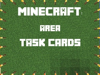 Area Task Cards 3rd Gr- Minecraft Themed- CCSS- Explanations, Gameboard, & More!
