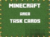 Area Task Cards 3rd Gr- Minecraft Themed- CCSS- Explanatio