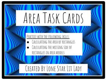 Area Task Cards (Calculating Area and Missing Sides)