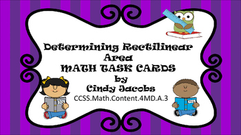 Area Task Cards Rectilinear Area  and Area of Complex Shapes