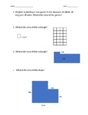 Area Test/Quiz/Exit Ticket (rectangles) (rectilinear shapes)