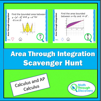 Area Through Integration Scavenger Hunt