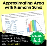 Calculus Approximating Area Using Riemann Sums with Lesson