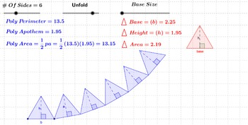 Area - Unfolding a Regular Polygon