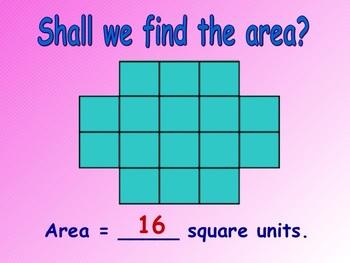 Area Using Square Units Lesson