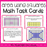3rd Grade Area Using Unit Squares Task Cards | Area Using