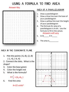 Area:Using a Formula