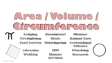 Area, Volume & Circumference Careers Poster